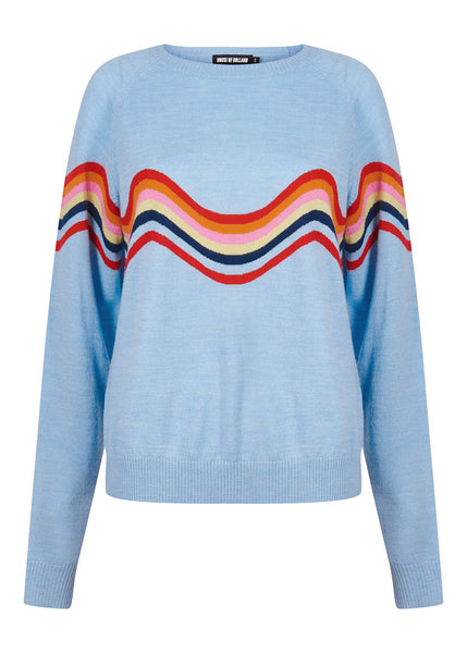 WAVY PEACE CUT OUT JUMPER