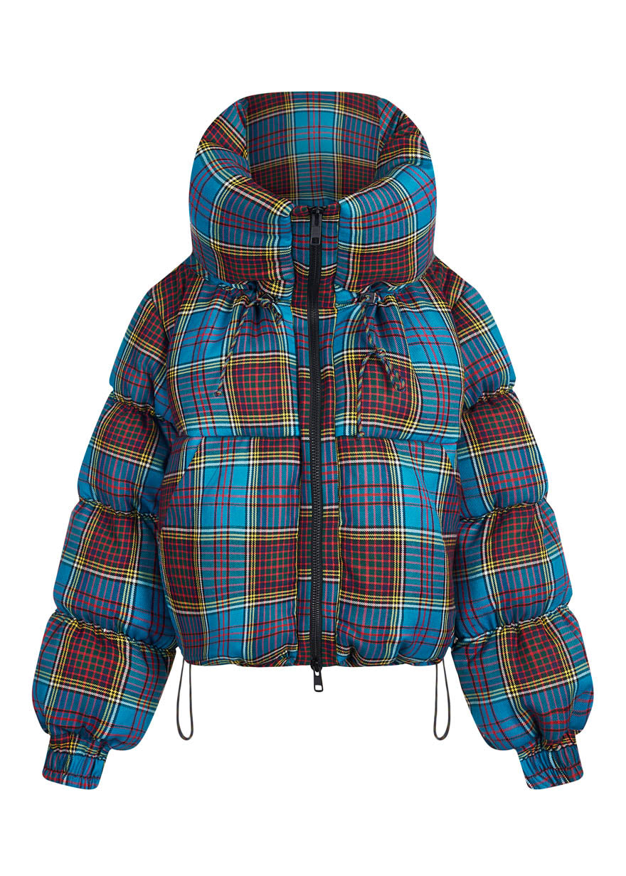 Tartan Puffa Jacket By House of Holland