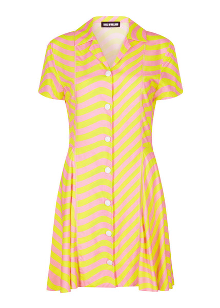 PINK AND LIME SURFER DRESS
