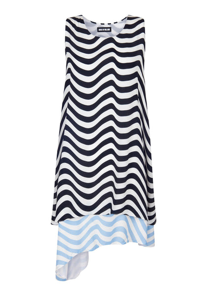 Racer Contrast Wave Dress