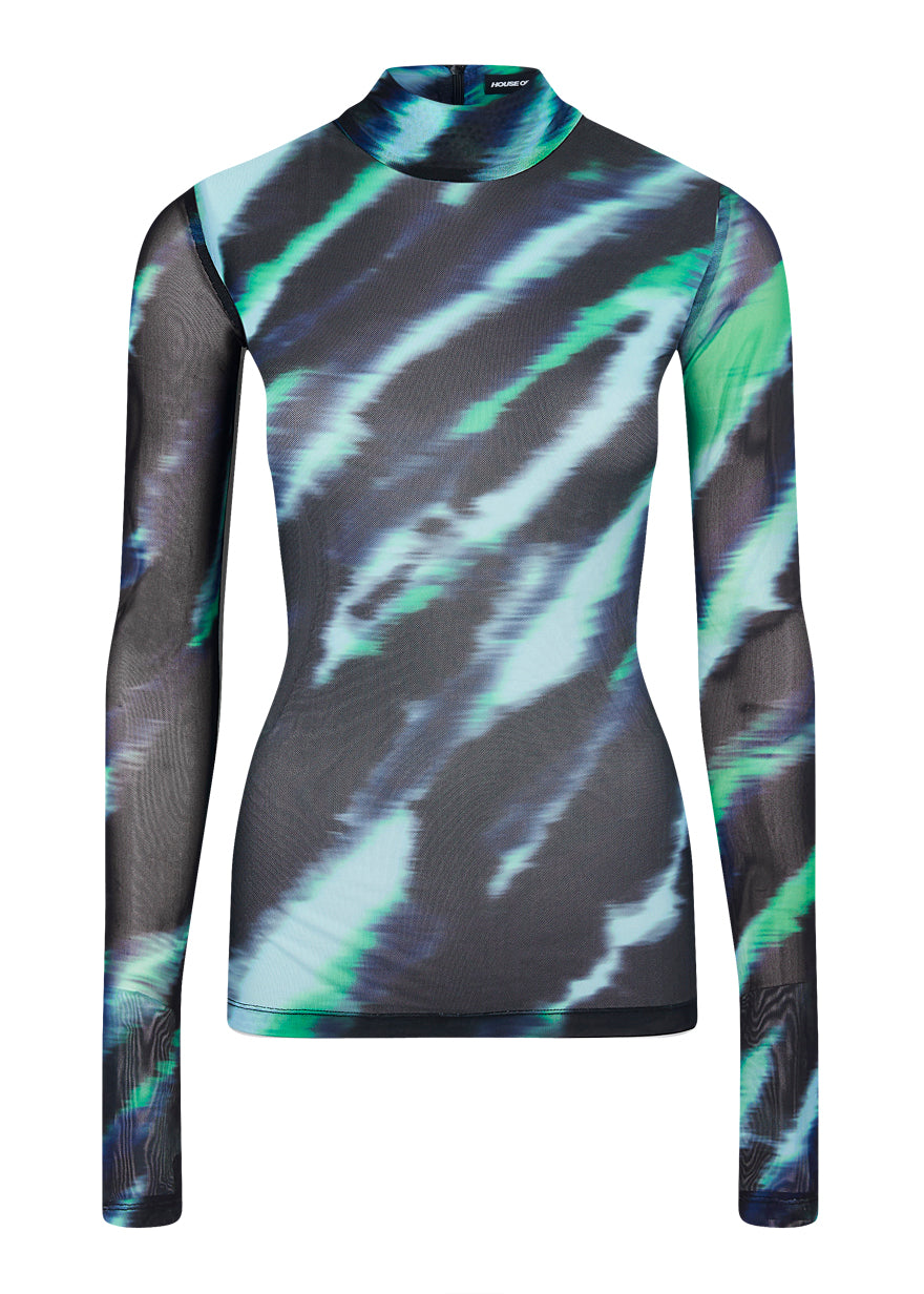 Mint Tie Dye Long Sleeve Top