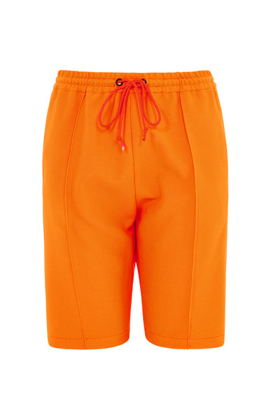 Cotton Blend Suit Shorts (Neon Orange)