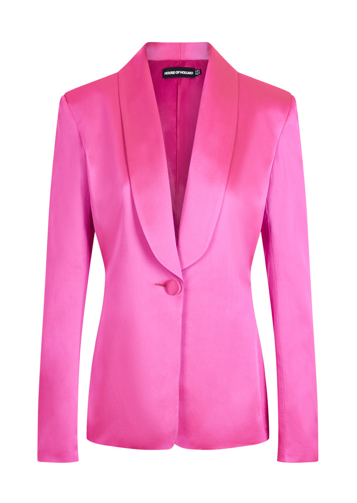 Veste Sur Mesure Satin Rose