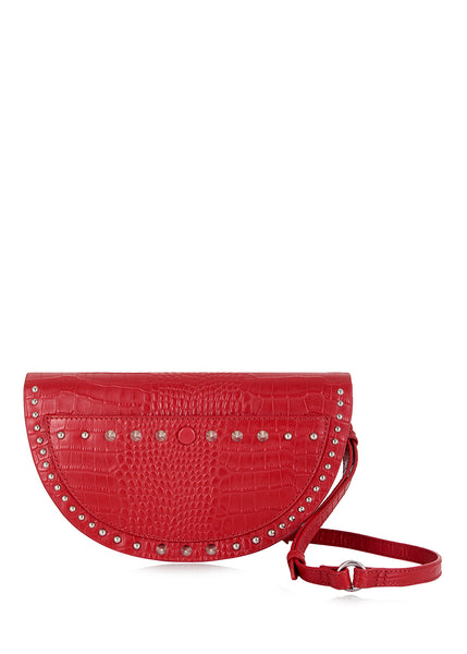 Red Croc Half Moon Crossbody Bag