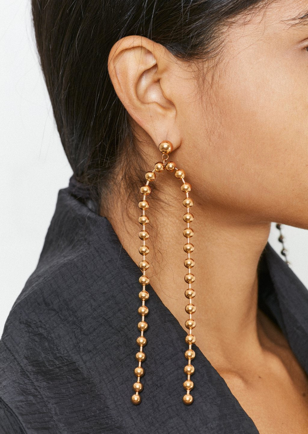 Rose Gold Ball Chain Drop Earrings by House of Holland