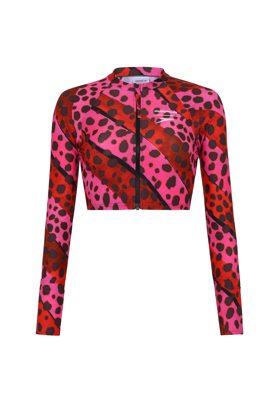 HOH X Speedo Bright Cheetah Stripe Rash Top