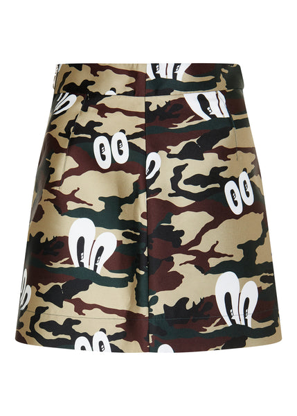 HATTIE CAMO PRINTED SKIRT