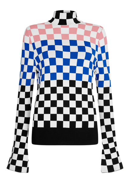 BLACK CHECKERBOARD JUMPER