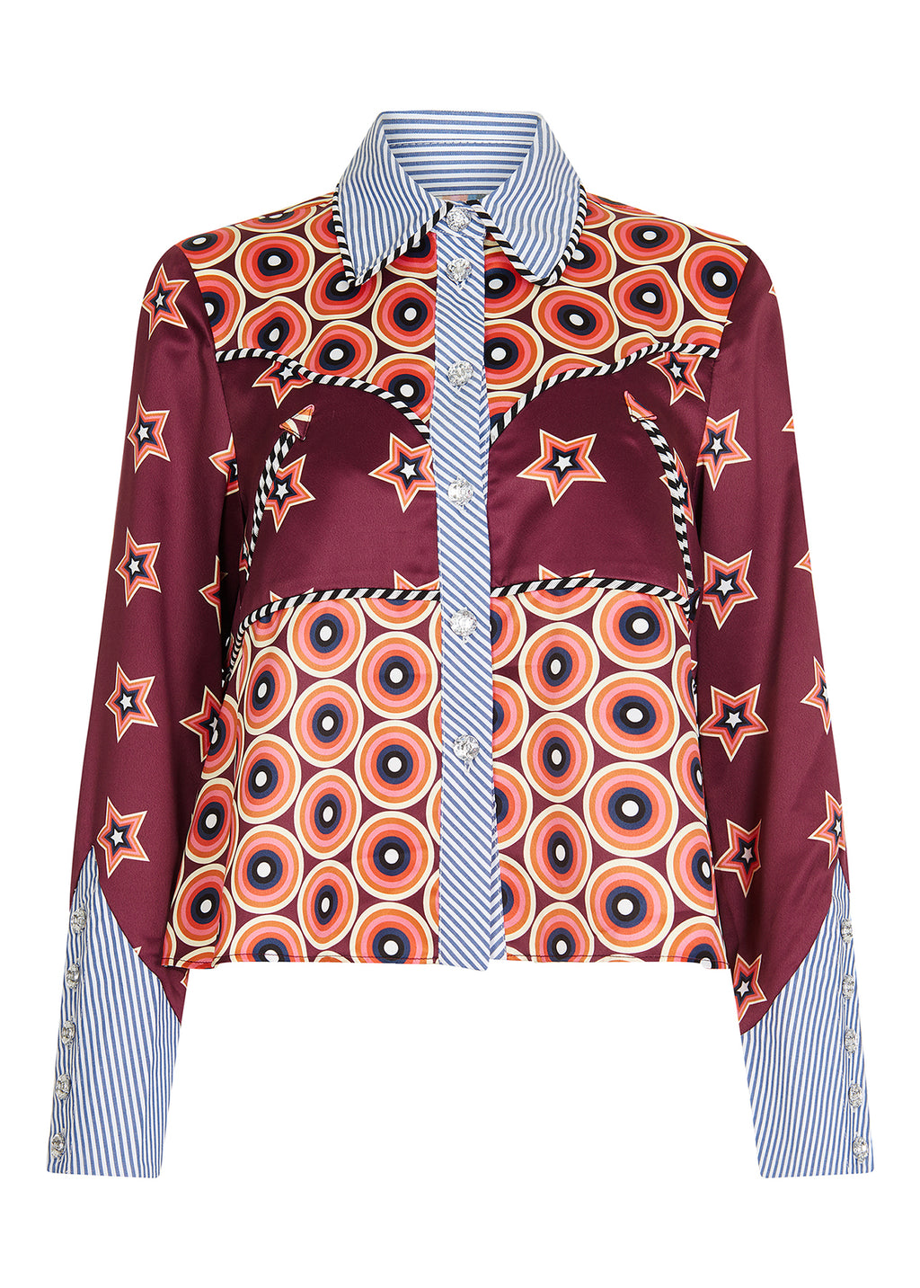 Satin and Cotton Western Shirt