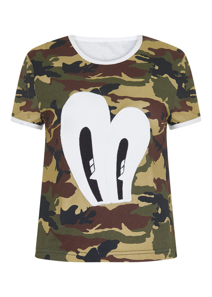 KHAKI EYE PATCH TEE