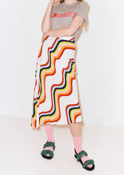 ASYMMETRIC RAINBOW SKIRT