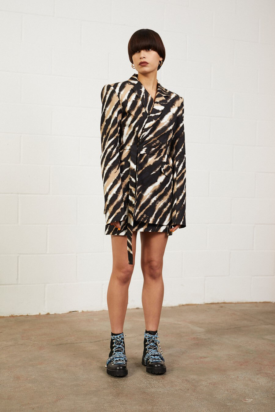 Zebra Tie Dye Tailored Jacket