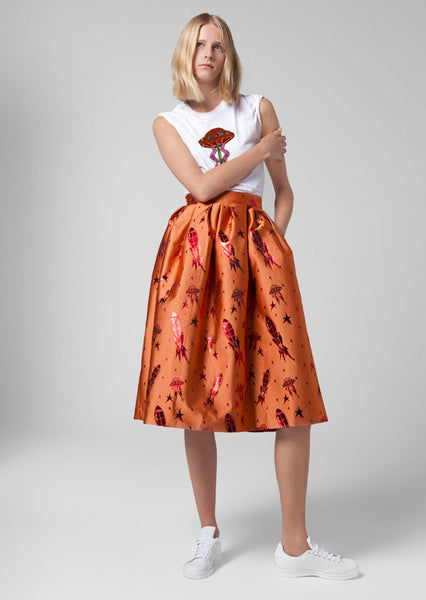 Spaceship Jacquard Dirndl Skirt
