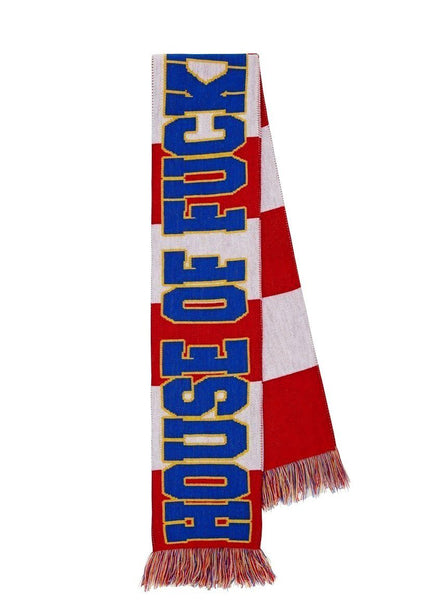 Red Striped 'House of F***ing Holland' Scarf