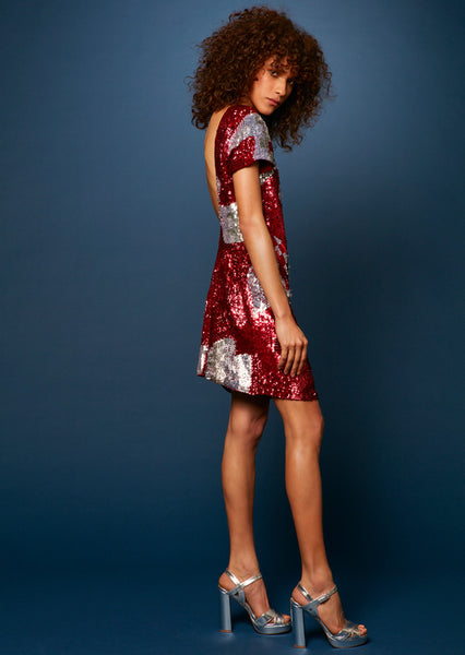 Sequin Scoop Back Dress