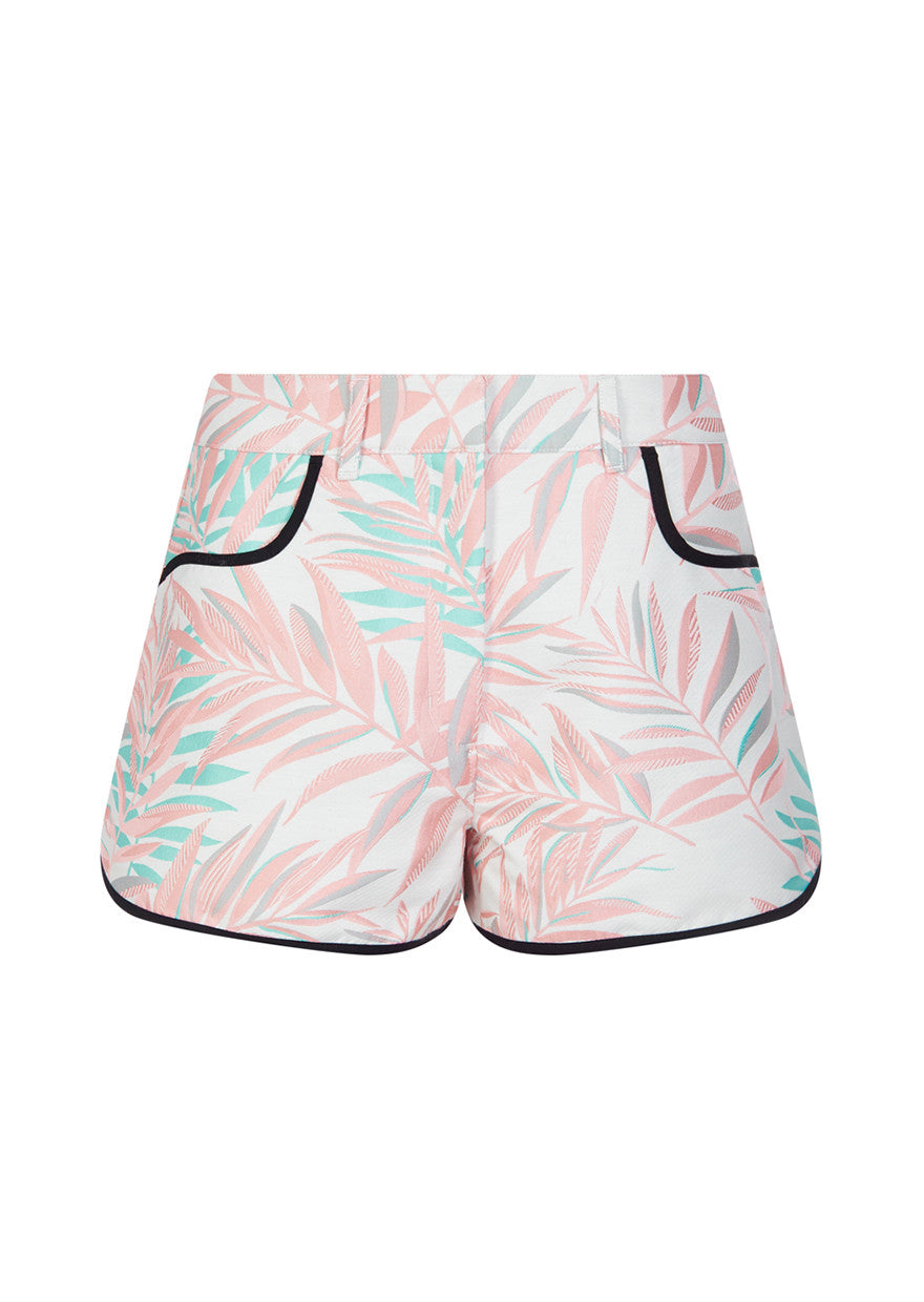 Jacquard Palm Leaf Shorts