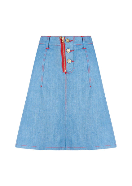 Heart Denim Skirt
