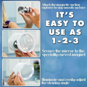 50% OFF 5X And 8X LED Magnetic Mirror