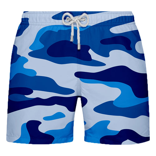 Shorts Estampado  Camuflado Azul - Citiz Beach Wear