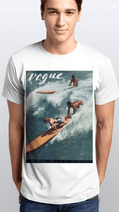 Camiseta Estampada Masculina Citiz Branca Com Capa Vogue - Citiz Beach Wear