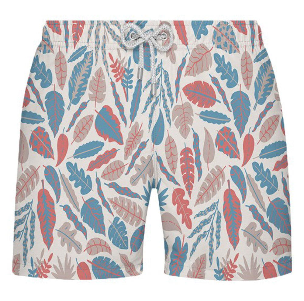 Shorts Estampado Floral com Fundo Branco - Citiz Beach Wear