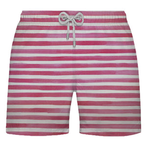 Shorts Listrado Rosa e Branco - Citiz Beach Wear