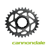 ABSOLUTE BLACK C/RING MTB CANNONDALE OVAL BLACK