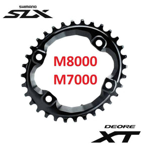ABSOLUTE BLACK C/RING MTB M8000/M7000 OVAL 96BCD BLACK