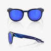 bicycle-garage - 100% CAMPO - POLISHED TRANSLUCENT BLUE - ELECTRIC BLUE MIRROR LENS -