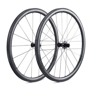 DEDA SL38C CARBON CLINCHER WHEELSET - POB FINISH