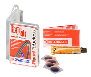 bicycle-garage - HUTCHINSON REP'AIR KIT TUBELESS 4 x 17 MM + RUBBER GLUE -