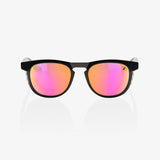 bicycle-garage - 100% SLENT - POLISHED BLACK - PURPLE MULTILAYER MIRROR LENS -