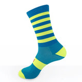 bicycle-garage - SOX - PREMIUM LONG - STRIPES FLUO YELLOW/BLUE -