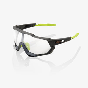 bicycle-garage - 100% SPEEDTRAP - SOFT TACT COOL GREY - PHOTOCHROMIC LENS -