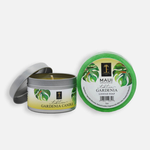 Tahitian Gardenia Candle and Loofah Duo