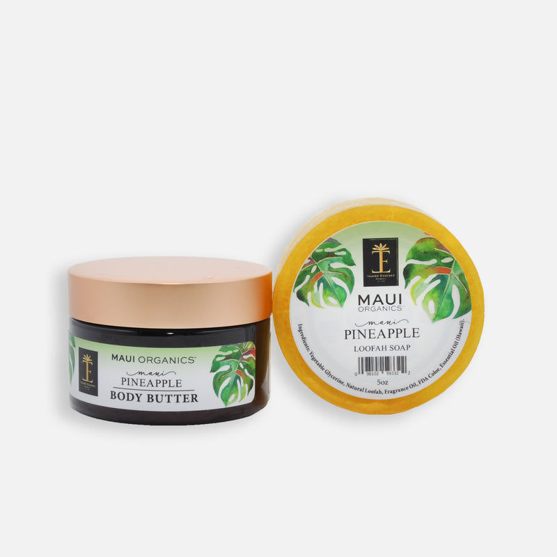Maui Pineapple Body Butter and Loofah Duo
