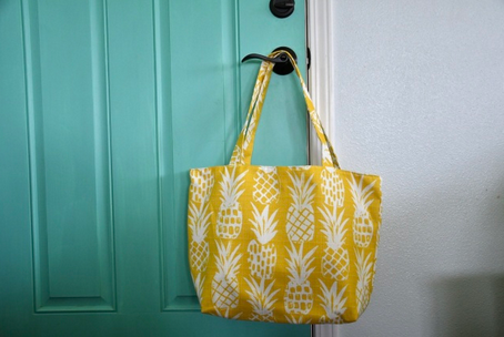 Oneloa Golden Pineapple Tote Bag