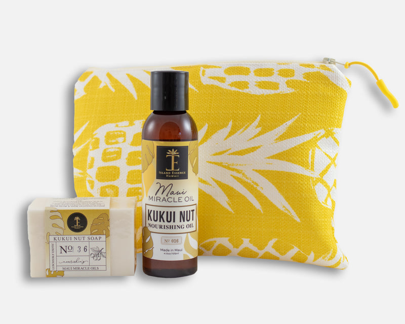 Kukui Nut Oil & Soap Gift Collection with Bag