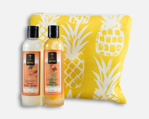 Vintage Body Wash and Premium Body Oil Gift Collection