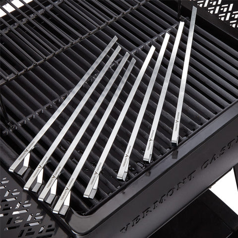 Stainless Steel BBQ Skewers, 8-pc