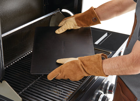 High-Heat Leather BBQ Grilling Gloves