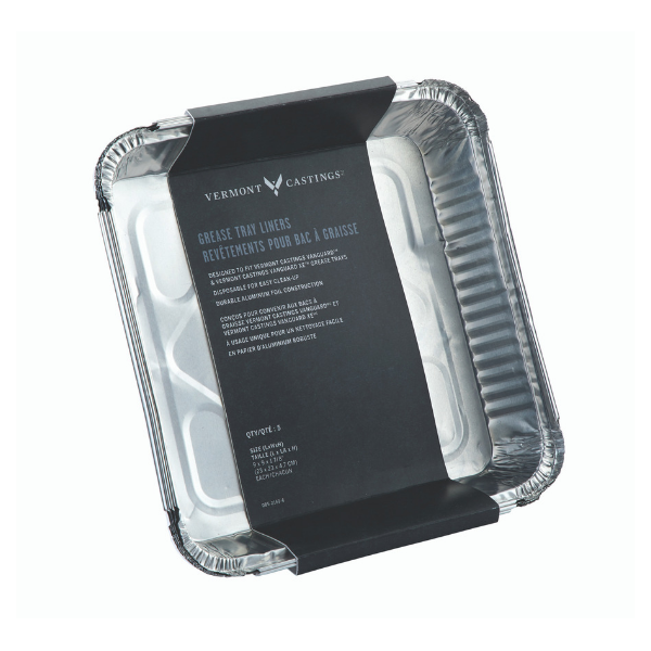 5-Pk Aluminum BBQ Grease Tray