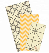 Beeswax Food Wrap | FDA certified | Organic Ecofriendly| 5 Sizes | natural beeswax food wrap GOTS cotton By Natural Aisles