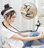 Mobile Phone Holder Hanging Neck Lazy Necklace Bracket Bed 360 Degree Phones Holder Stand For iPhone