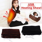 45x80cm Electric Warming USB Heating Shawl Blanket Soft Pad Shoulder Space Heater Winter Warm Health Care For Home/Office