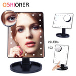 OSHIONER Dimmable LED Make Up Mirror