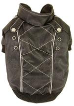 Wuff-Rider Fashion Suede Stitched Pet Coat- Dark Brown: X-Small