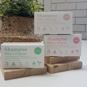 Shampoo with a purpose - shampoo + conditioner bar 135g-Personal Care-Clover Fields-ReThink Store