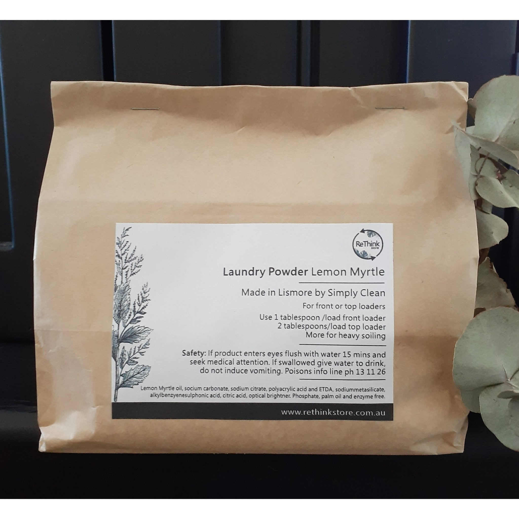 Laundry Powder Lemon Myrtle-Household-Simply Clean-ReThink Store