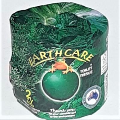 Toilet Paper - Earthcare 100% recycled 1 Roll-Household-Queensland Tissue Products-ReThink info hub + store